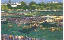 Souvenir d'une course hippique à Auteuil