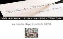 Décembre 2011 : programme des mardis littéraires place Saint Sulpice