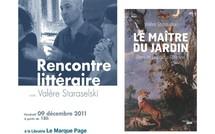 9 décembre 2011 : Rencontre littéraire avec Valère Staraselski au Marque Page