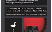 14 décembre 2011 : rencontre littéraire avec Alain Berenboom à la Belle Juliette