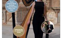 22 janvier 2012 : Concert de flûte et de harpe dans les salons de la Belle Juliette