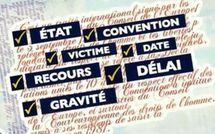 Recevabilité devant la Cour Européenne des Droits de l'Homme