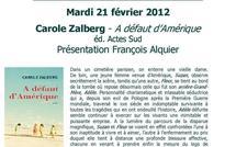 21 février 2012 : Carole Zalberg fait son mardi littéraire au café de la mairie