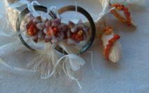 Nini la Souris polynésienne et Logo le Petit Tupa chez le photographe