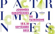 Journées Européennes du Patrimoine les 15 et 16 septembre 2012
