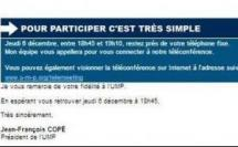 Téléphone Emailing Telemeeting Relance : les adhérents de l'UMP sollicités par les équipes de Copé