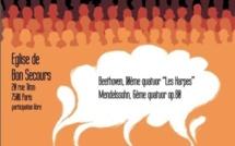 Lundi 15 Avril 2013 concert du Quatuor Via Nova en l'église de Bon Secours