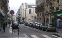 Blocus du quartier en vue autour de l'église Sainte Rita