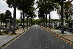 Allée centrale cimetière du Montparnasse
