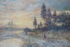 lot 182 - Scène paysanne de Russie par  K. Korovine Etude E. Aubert