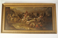 Lot 18 - Ecole flamande du XVIIe siècle - Bataille de cavalerie © Etude SADDE Commissaires Priseurs à Dijon © Etude SADDE Commissaires Priseurs à Dijon