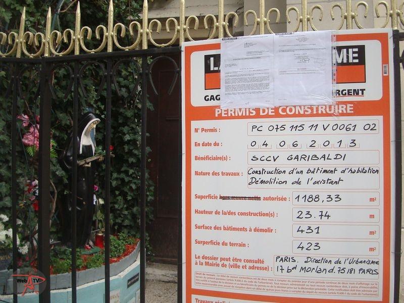 """""""Démolition de l'existant"""" Eglise Sainte Rita 27 rue François Bonvin 75015 Paris"""