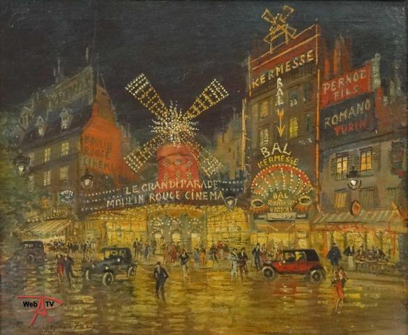 Lot 181 - Le Moulin Rouge par K.Korovine Etude E. Aubert