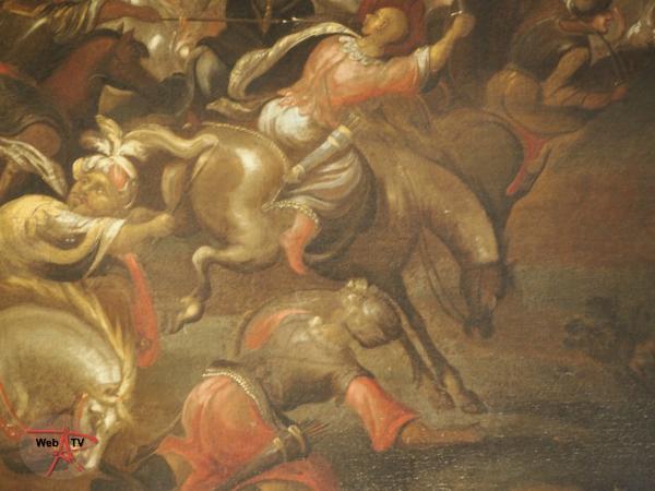 Lot 18 - Ecole flamande du XVIIe siècle - Bataille de cavalerie - détail 3 © Etude SADDE Commissaires Priseurs à Dijon